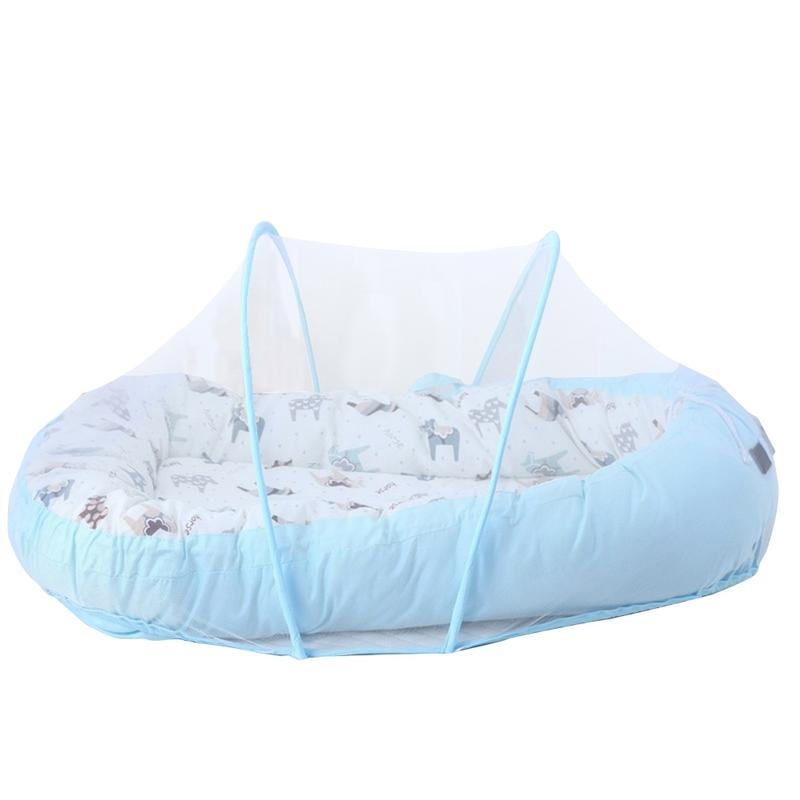 Baby Alcofa Nest Bed Portable Crib Travel Bed Infant Toddler Cotton Cradle Foldable Carrycot For Newborn Baby Bassinet Bumper