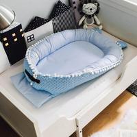 Baby Nest Cartoon Printing Bionic Bed Folding Detachable Washable Satin Portable Baby Bed Multifunctional Travel Crib O3