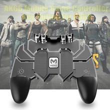 Мобильный игровой контроллер AK66 Six Finger All-in-One, игровой контроллер без артефакта, кнопка пожарного ключа, джойстик, геймпад L1 R1, триггер для PUBG