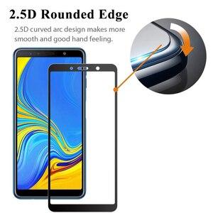 Image 5 - Protector de pantalla de cristal 5d para samsung galaxy, protector de pantalla de vidrio templado para samsung galaxy a6, a7, a8, a9 2018, a6plus, a8plus, tremp, a 6, 8, 7, 9