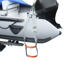 Premium Polyester Inflatable Boat Rib Dinghy 2 Step Boarding Ladder & Stainless Steel Buckle – Corrosion Resistant & Durable