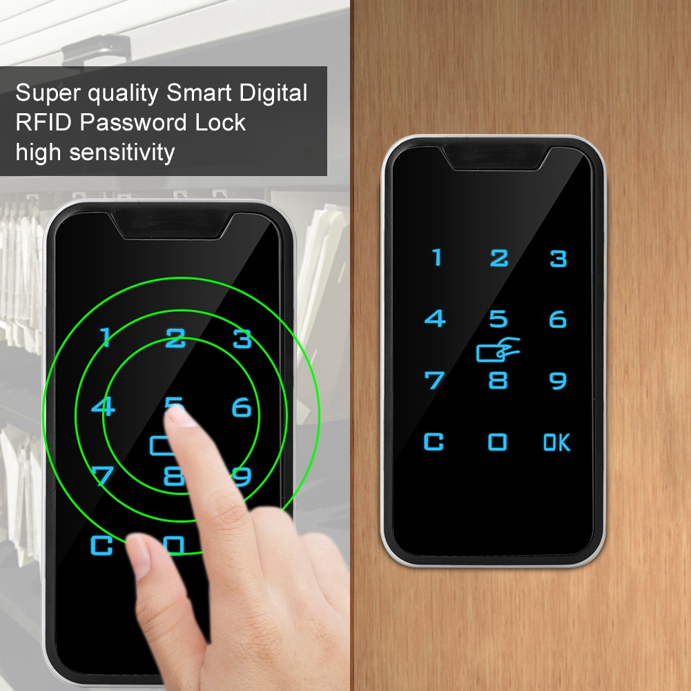 SOONHUA High Quality Zinc Alloy Smart Digital RFID Password Lock Touch Keypad Electronic Wardrobe File Cabinet Lock