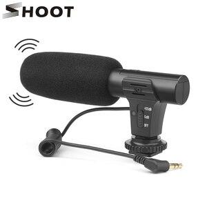 Image 1 - Ateş 3.5mm Stereo kamera mikrofon VLOG fotoğrafçılık röportaj dijital Video kayıt mikrofonu Nikon Canon DSLR kamera için