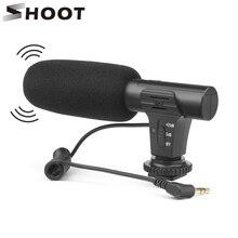 SHOOT 3.5mm 스테레오 카메라 마이크 VLOG 사진 인터뷰 Nikon Canon DSLR 카메라 용 디지털 비디오 녹화 마이크