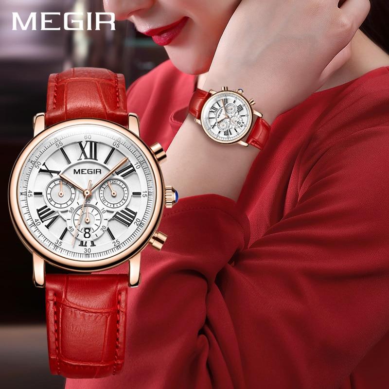 f8eadfe525c MEGIR Moda Feminina Pulseira Relógios Top Marca de Luxo Ladies Quartz Watch  Relogio feminino relógios de Pulso Do Esporte Relógio para Os Amantes em ...