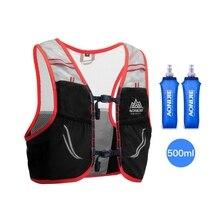 AONIJIE جديد 2.5L المجموعة المائية على ظهره حقيبة ظهر سترة تسخير المياه المثانة التنزه التخييم الجري سباق ماراثون تسلق