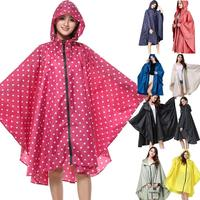 Rain Coat Women Casual Hooded Batwing Sleeve Patchwork Loose Button Above Knee Rain Summer Casual Outdoor Coat Jacket 2019 New