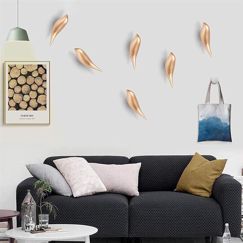 1 Pc Creatieve Vogel Muur Haken Home Decoratie Hars Houtnerf Opbergrek Slaapkamer Deur Na Coat Hat Hanger Jas Houder Decor