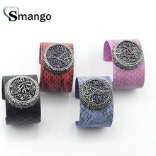 5PCS Bracelets for Women,Character Design Colorful Snakeskin Bangles