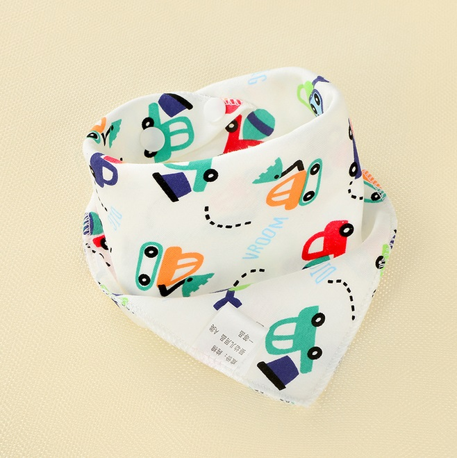 New Cute Baby Boys Girls Bibs Saliva Towel Toddler Bandana Triangle Head Scarf