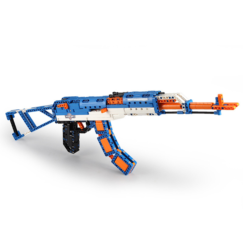 cada technic building blocks AK-47  gun  military legou toy bricks weapon set can fire  rubber band  toys for children boys kids 5