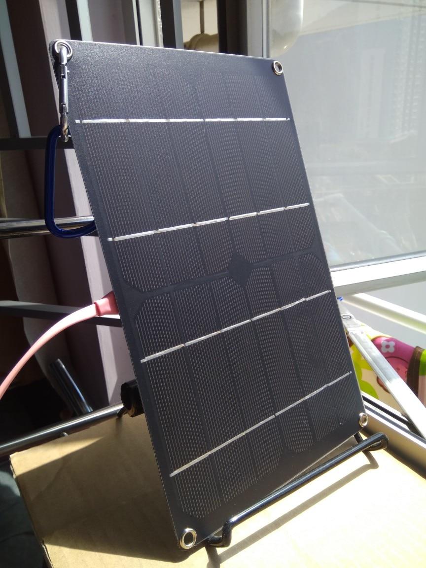 5V 1A USB выходное солнечное зарядное устройство наружный портативный солнечный элемент Солнечная Панель зарядное устройство для телефона 6W моно солнечная батарея