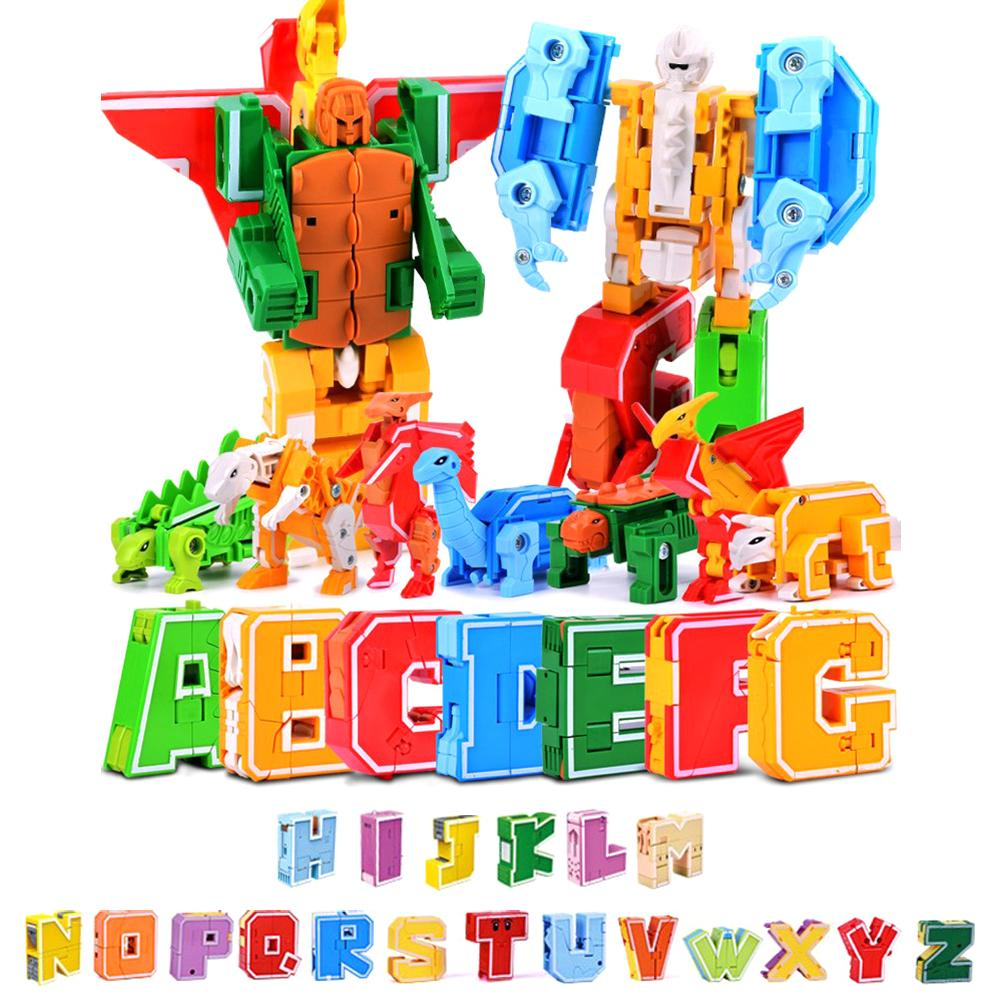26pcs English Letters Robot Deformation Alphabet Transformations Puzzle Assembled Deformation Toy Birthday Gifts Educational Toy26pcs English Letters Robot Deformation Alphabet Transformations Puzzle Assembled Deformation Toy Birthday Gifts Educational Toy