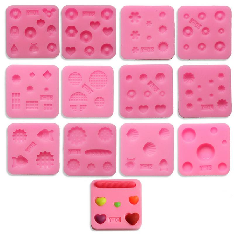 Silicone Mold Mini Mold - Miniature Food,Sweets, Jewelry,Charms(Epoxy,Clay,Fondant, Fimo, Resin, Sculpey)Mini Gemstone Mold 40