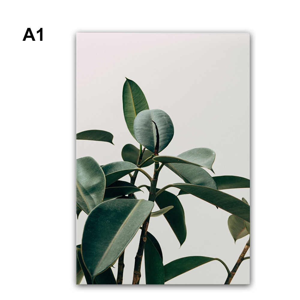 1PC Plant Oil Painting Canvas Portrait Frameless Painting For Living Room Home Decor Wall Art Paintings On The Wall