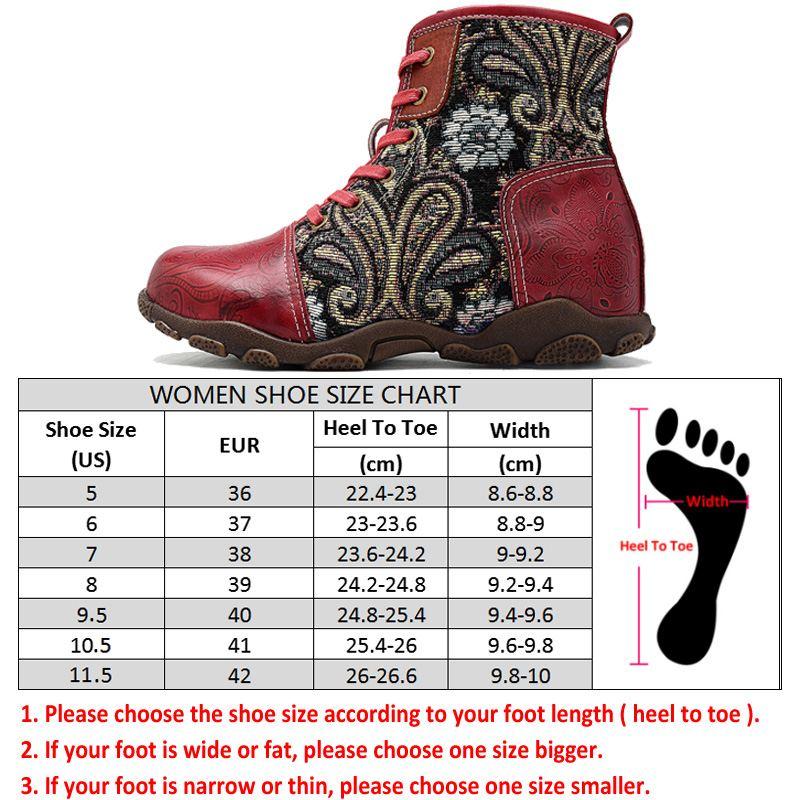 Socofy Vintage motocicleta tobillo botas Mujer Zapatos Mujer cuero genuino Bohemian Western Cowboy botas Casual zapatillas botines-in Botas hasta el tobillo from zapatos    3