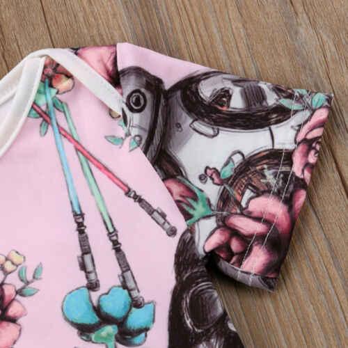 2019 Recém-nascidos Da Criança Infantil Do Bebê Dos Miúdos Meninas Star Wars Sunsuit Bodysuit Macacão de Manga Curta Roupas de Verão Bodysuits Outfits
