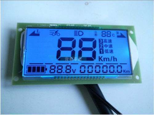 Car Multifunction Voltmeter Thermometer Speedometer For Auto 48V 60V 72V 36~72V