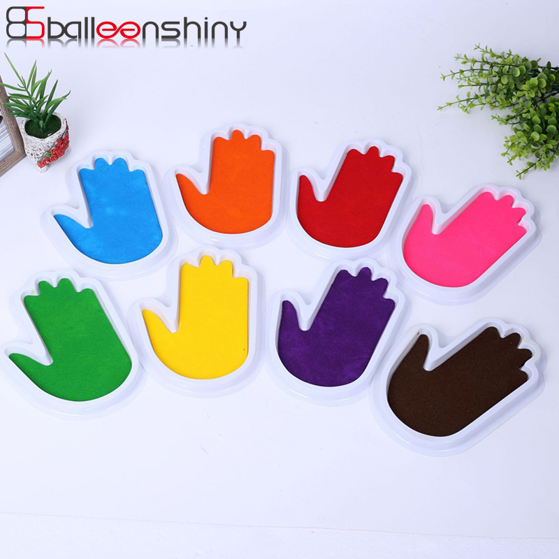 Aspiring Balleenshiny Ink Pad Diy Finger Drawing Toys Baby Funny Graffiti Colored Graffiti Craft Inkpad Stamps Painting Gift For Children