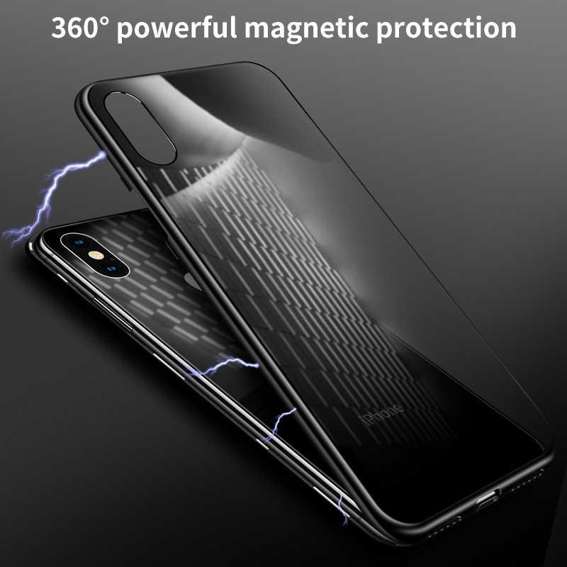 IHaitun 高級磁気 Iphone 11 プロマックス XS 最大 XR × ケースマグネット裏表紙フリップ iPhone × 10 7 8 プラス電話