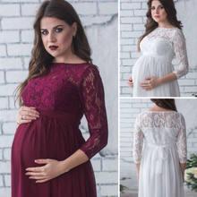 Madre incinta Vestito Nuovo Maternità Fotografia Puntelli Delle Donne Gravidanza Vestiti Vestito di Pizzo Per Fotografico Abbigliamento In Gravidanza