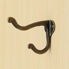 1 Uds Vintage antiguo percha con estilo cuarto de baño asistencia de Metal de ropa de abrigo toalla traje Pared de baño montado en la puerta ganchos 53X29X75mm