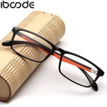 iboode Fashion Women Men Reading Glasses TR90 Ultralight Retro Resin Clear Lens Female Male Reader Eyewear Presbyopic Eyeglasses