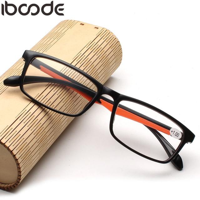 iboode Fashion Women Men Reading Glasses TR90 Ultralight Retro Resin Clear Lens Female Male Reader Eyewear Presbyopic Glasses