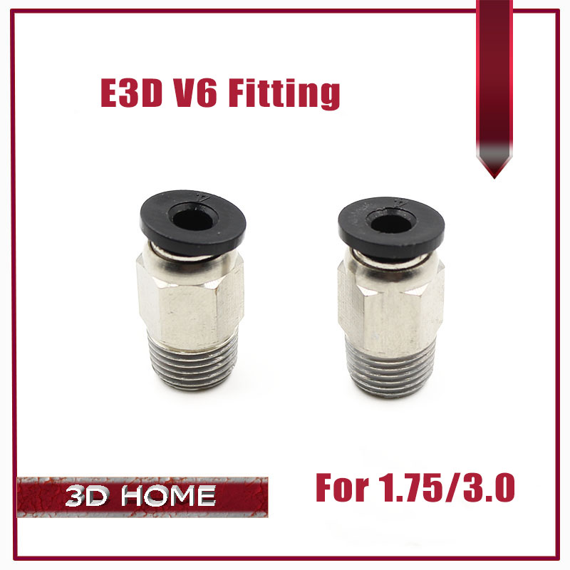 2pcs Pneumatic Connector PC4-01 175mm 3mm PTFE Tube Quick Coupler Feed inlet For J-head Fittings Reprap Hotend Fits 3D Printer