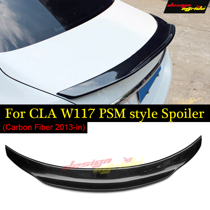 CLA W117 Tail spoiler Wing Carbon fiber PSM style For Mercedes CLA W117 CLA180 CLA200 CLA250 CLA45AMG wing trunk spoiler 2013 in in Spoilers Wings from Automobiles Motorcycles