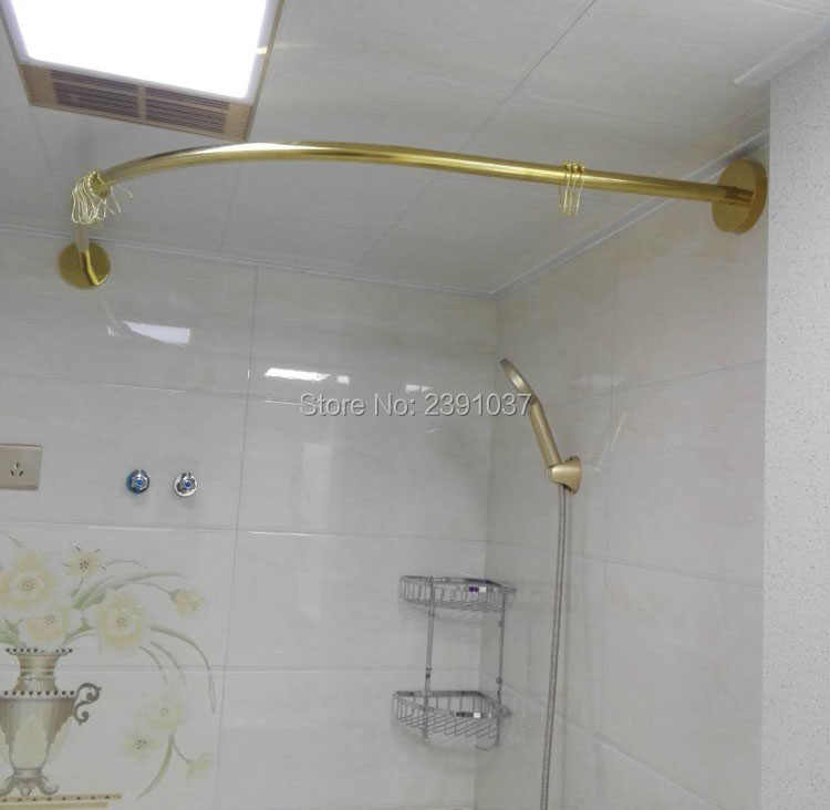 2019 gold stainless l shaped shower