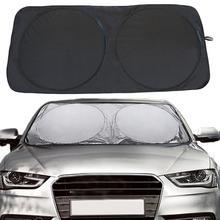 VORCOOL 150*70 см автомобильный солнцезащитный козырек от солнца, отражающий на солнечных батареях серебристый экран на переднее стекло, солнцезащитный козырек от ультрафиолетовых лучей