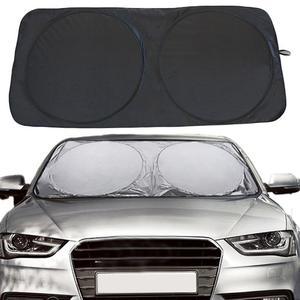 Image 2 - 150x70cm Car Sunshade Solar Reflective Silver Front Windowshield Sun Shade car sun protector UV Rays Block Protector