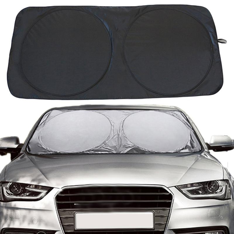 VORCOOL 150*70cm Car Sunshade Solar Reflective Silver Front Windowshield Sun Shade UV Rays Block Protector-in Side Window Sunshades from Automobiles & Motorcycles