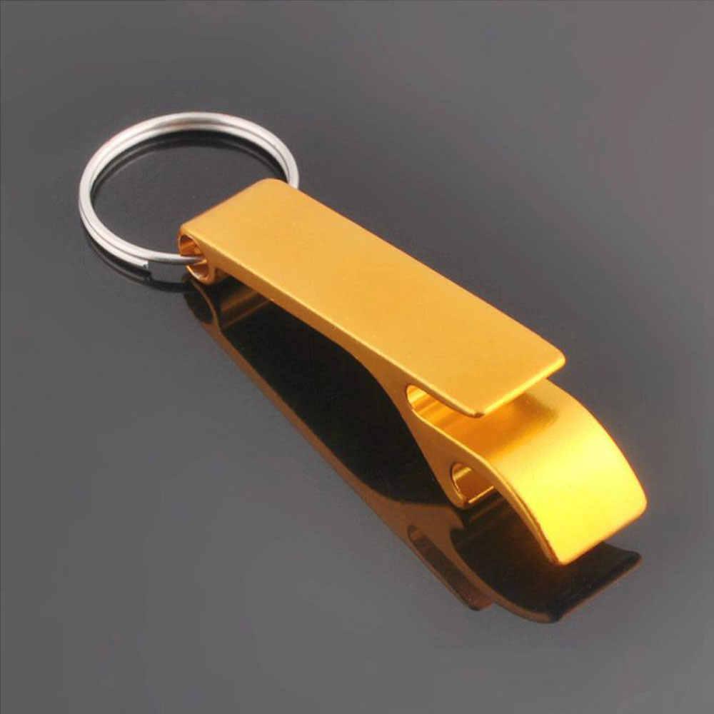 Llavero abridor de botellas de cerveza 4 en 1 bolsillo Metal herramienta dividida llavero a granel Barra de cocina herramienta accesorios con barra de garra