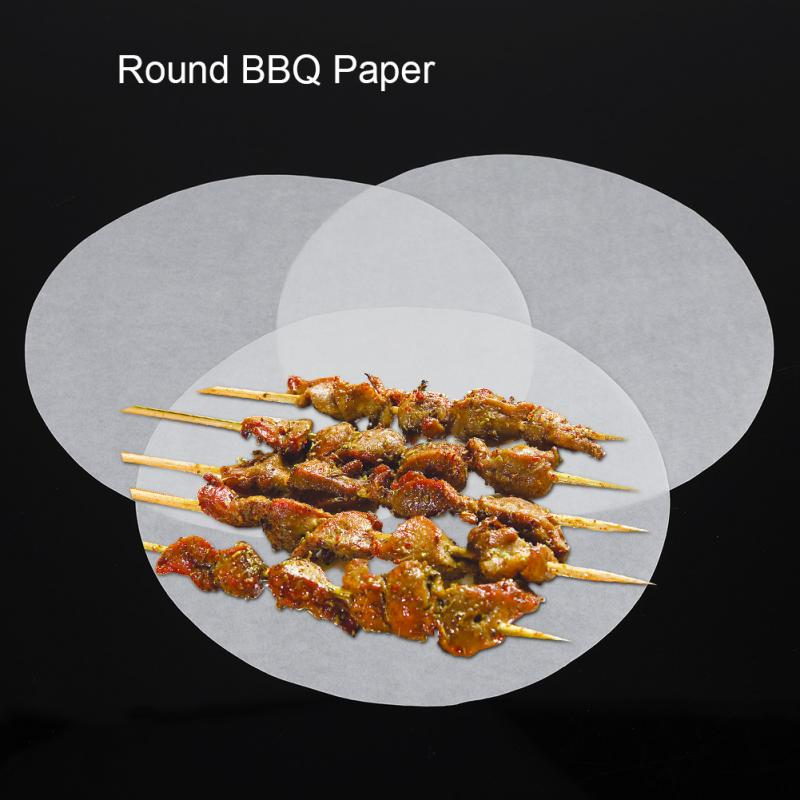 100/200/500 Pcs Non-Stick Round Oven Baking Papers Oil-absorption Roasted BBQ Barbecue Mat Pastry Baking Tools For Cakes