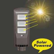 1Pcs 20/40/60W LED Sensor Solar Panel Power Wall Street Light PIR Motion Lamp/50cm Mounting Pole for Outdoor Lighting(China)
