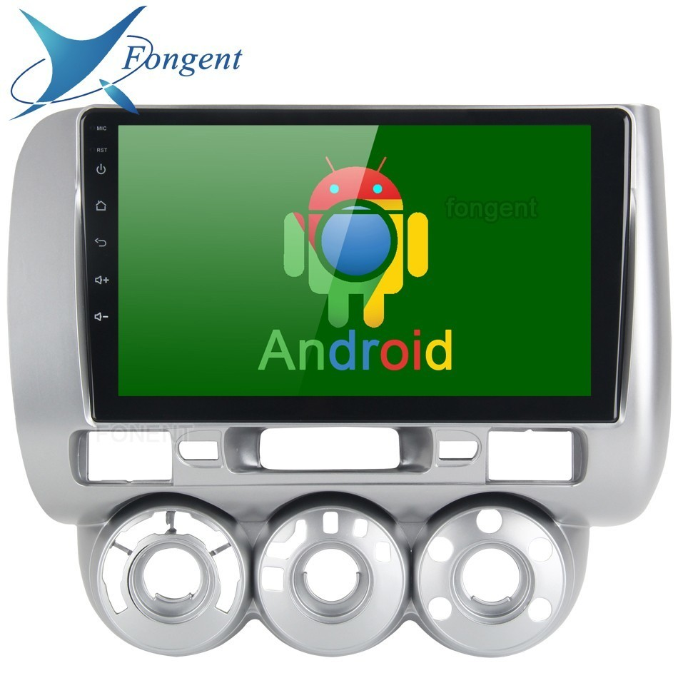Unidade Android Rádio Do Carro GPS Navegador Multmedia Inteligente para Honda JAZZ FIT 2002 2003 2004 2005 2006 2007 2008 Manual AC LFD