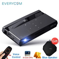 Everycom H96 Max Mini DLP Projector Full HD 4K WIFI 5G Android Touch Button Voice Remote 200 Inch Home Theater Projectors Beamer