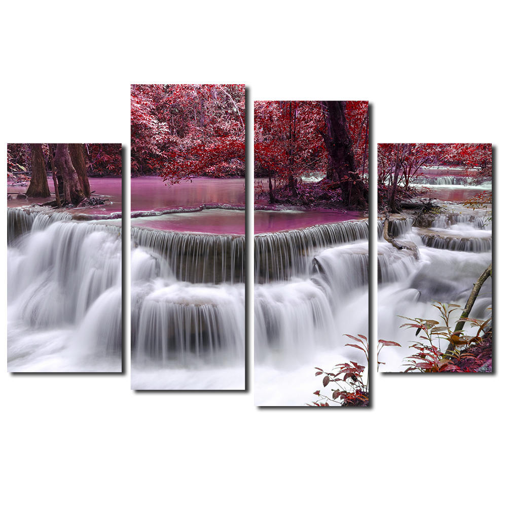 Quadruple Painting Landscape Frameless Pictures DIY Painting By Numbers Wall Art Acrylic Paintings Home Decor For Living Room