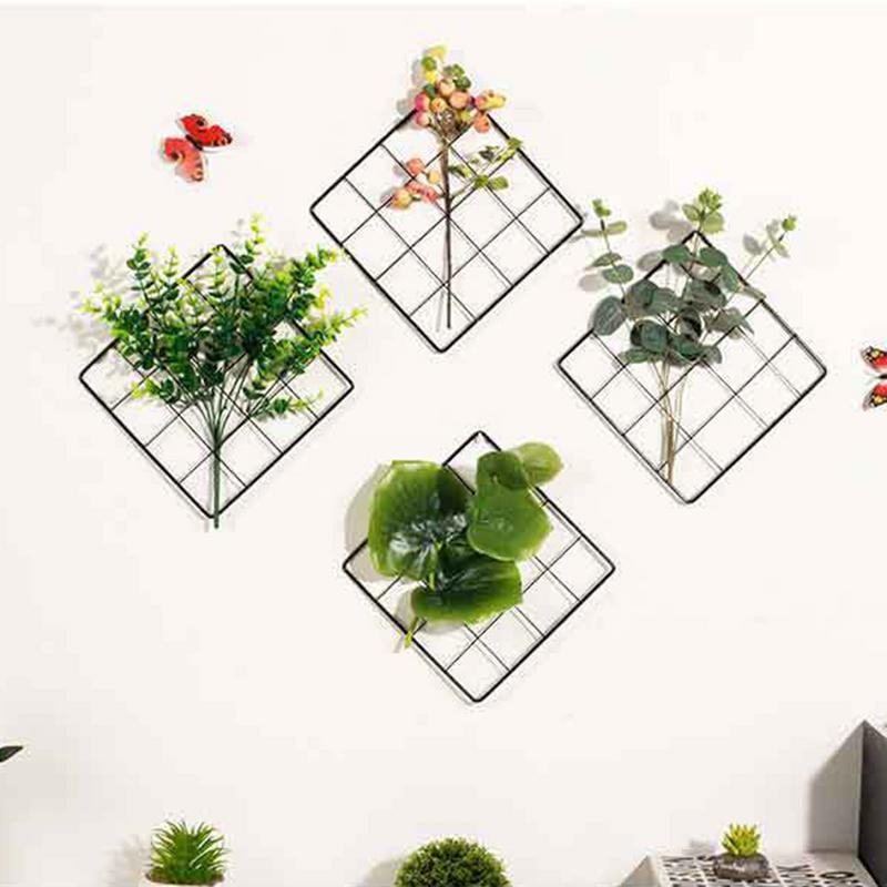 Nordic Minimalist Grid Wall Decoration Jewelry Unit Photo Frame Photography Storage And Organization Home Wedding Decoration