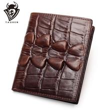 купить Crocodile Men Wallets Purse With Coin Pocket Bifold Credit Card Holder Alligator Classic Retro Leather Wallet Men Purses дешево