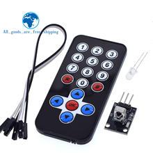 Tzt 1 conjunto módulo de controle remoto infravermelho sem fio módulo receptor ir kit diy hx1838 para arduino raspberry pi kit diy