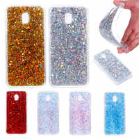 For Samsung J3 2017 J330 Case Colored Shiny Glitter Silicon TPU Skin Soft Back Cover Phone Case for Samsung Galaxy J3 2017 J330F