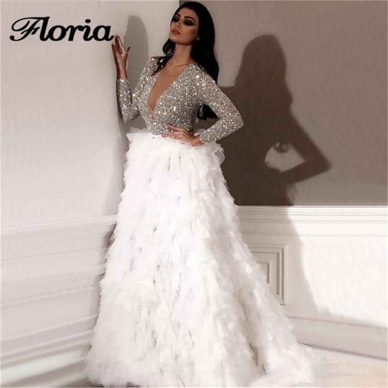 Dubai Design Illusion Wedding Dresses Couture New 2019 Beading