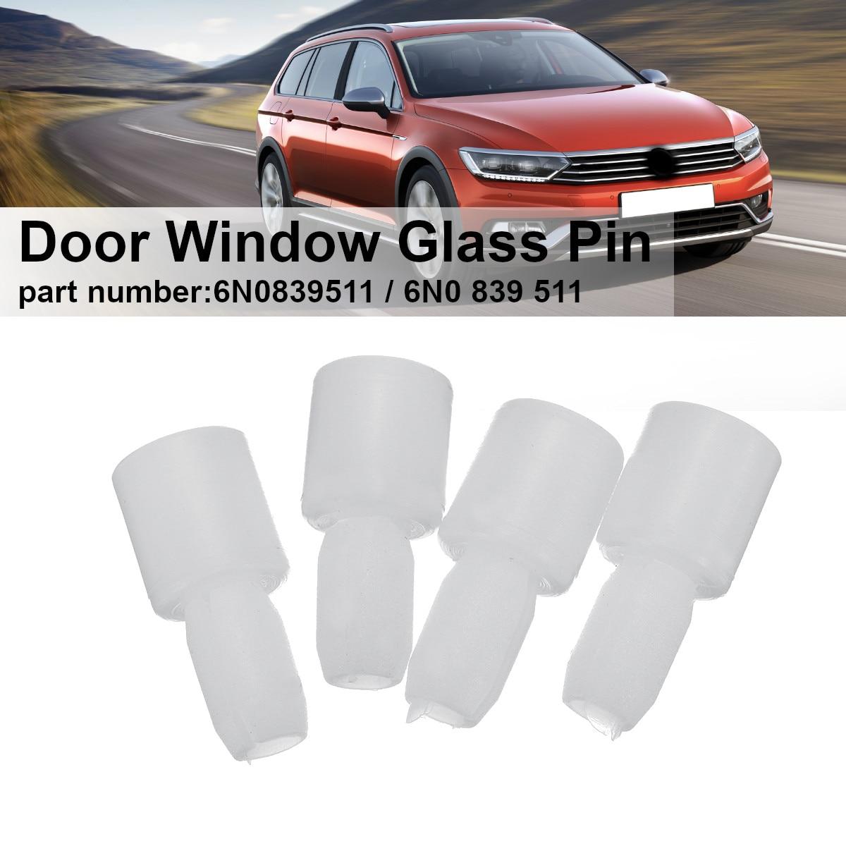 3c02feac9b67 4Pcs Movable Door Window Glass Pin For VW Passat B5 B7 Jetta 5 MK6 Bora 4  Golf 4 MK5 Tiguan Superb Seat Ibiza Leon A4 6N0839511