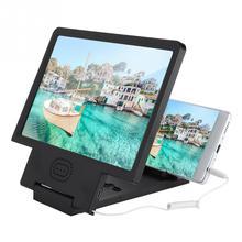 Mobile-Phone-Speaker Huawei Xiaomi with Screen-Magnifier Video HD Bracket-Holder Enlarge-Screen