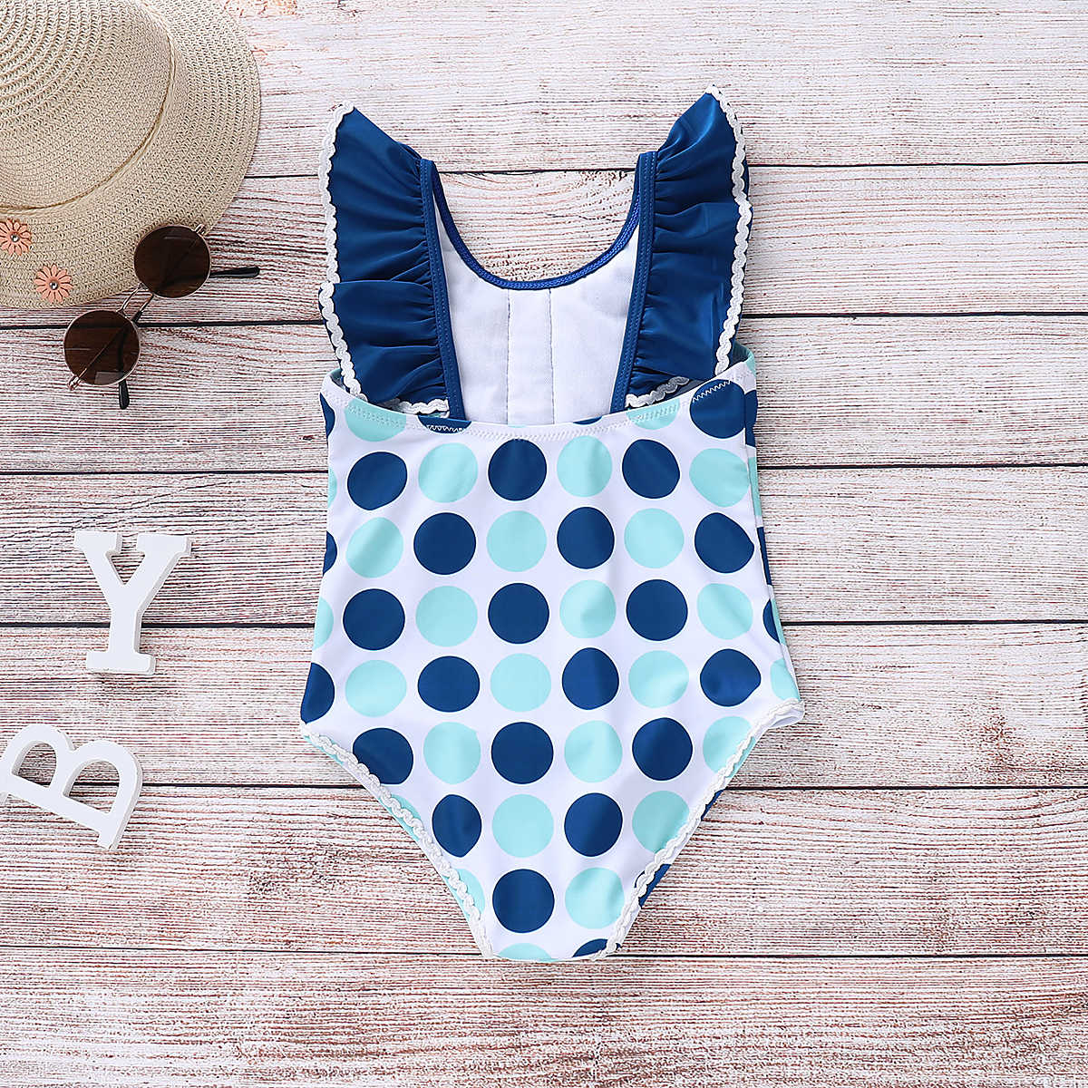 2019 Summer Kids Baby Girl Swimwear One Piece Bikini Swimsuit Bathing Suit Beachwear Children Swimming Clothes