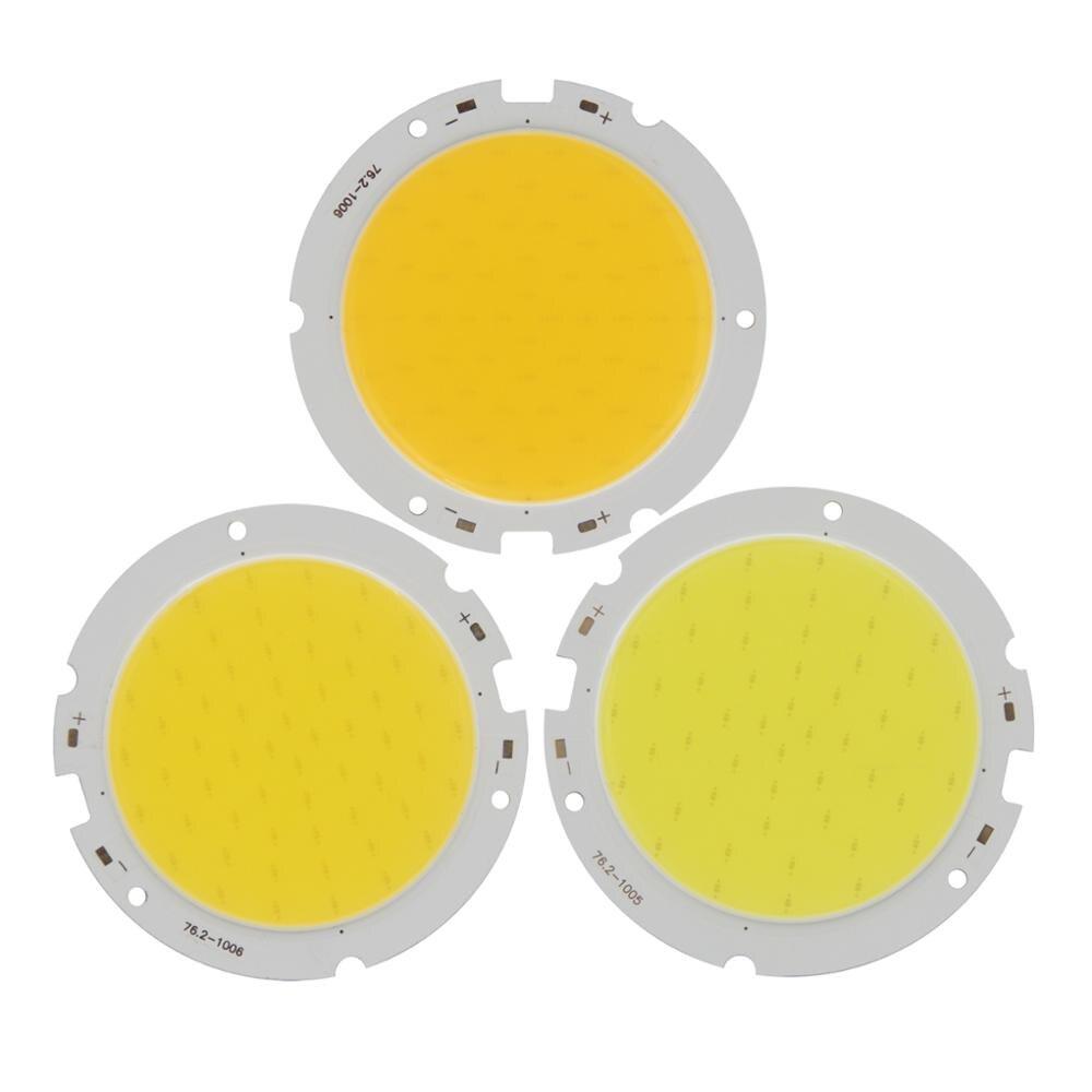 Купить с кэшбэком 5PCS LED COB 20W 30-33V DC 76mm 60mm Round Light Source High Lumen High Power Module COB Warm Nature White for downlight