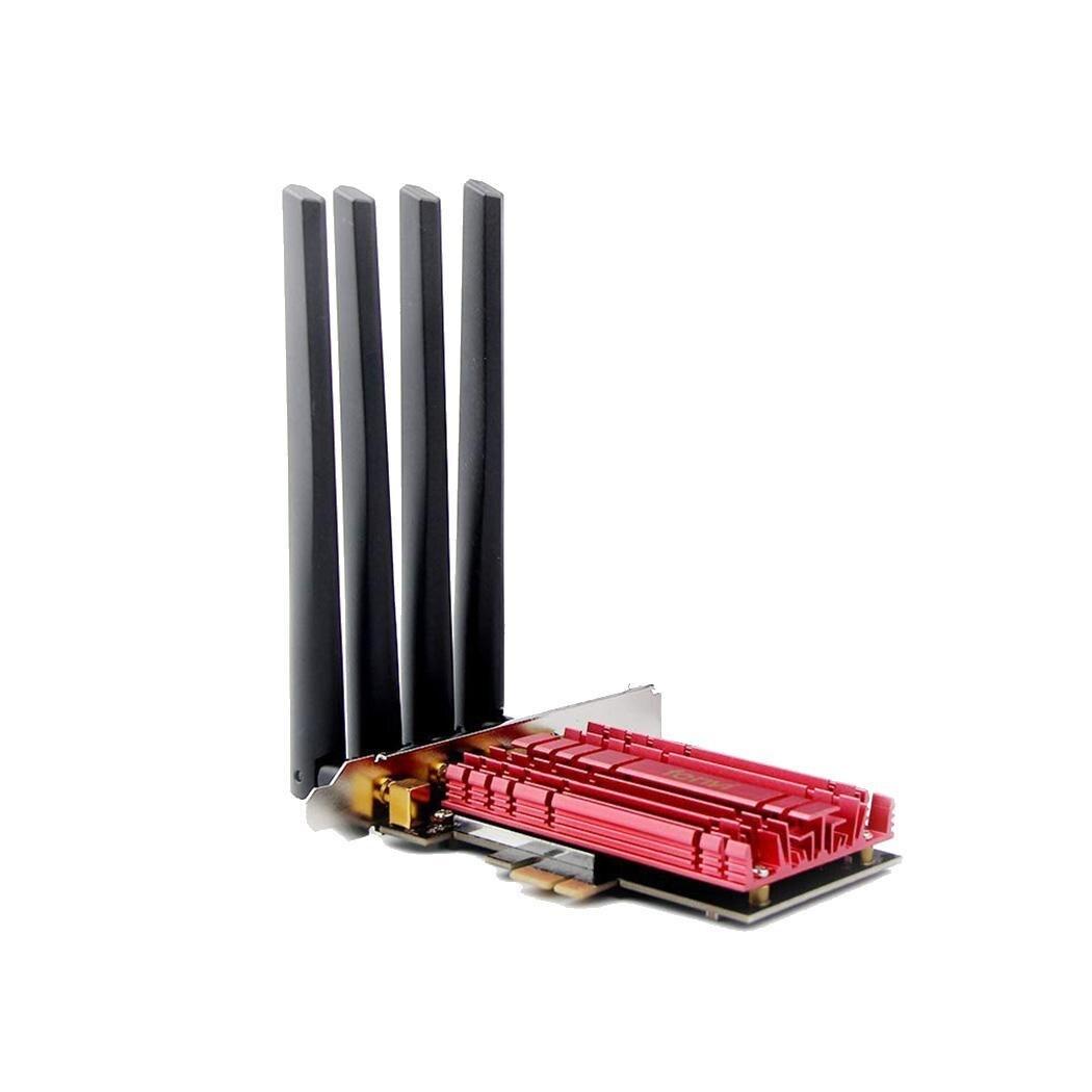 1900 Mbps PCI Express sans fil WiFi adaptateur décontracté 4 5dBi bureau facile à installer réseau rouge carte Wlan